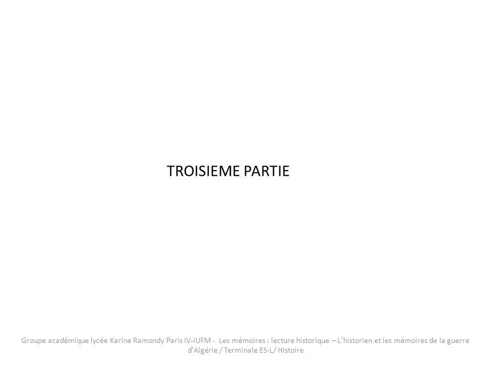 TROISIEME PARTIE