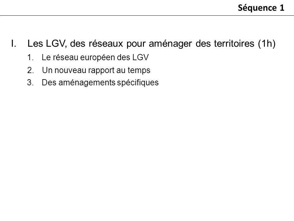 Les LGV, des réseaux pour aménager des territoires (1h)
