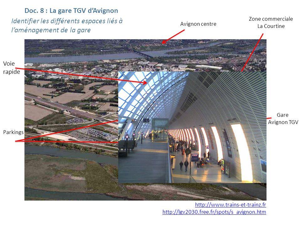 Doc. 8 : La gare TGV d'Avignon