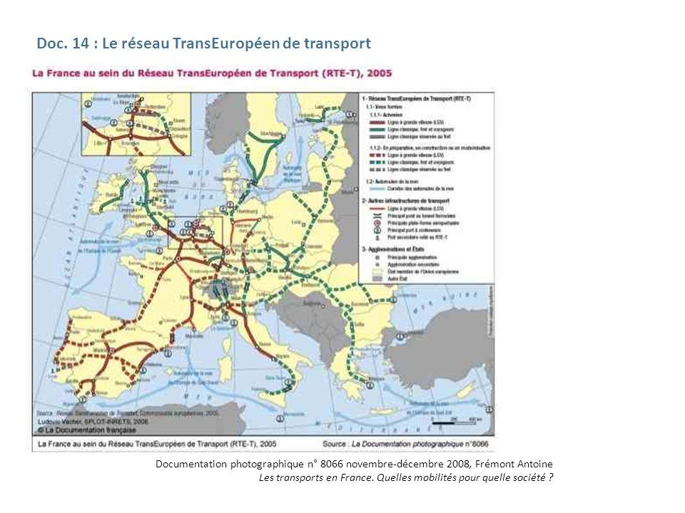 Doc. 14 : Le réseau TransEuropéen de transport