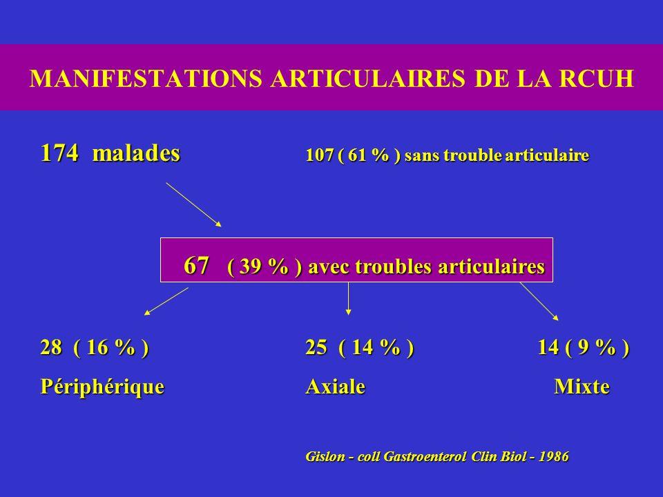 MANIFESTATIONS ARTICULAIRES DE LA RCUH