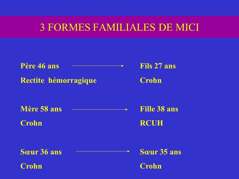 3 FORMES FAMILIALES DE MICI
