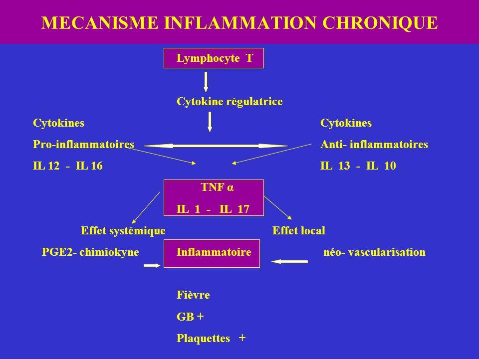MECANISME INFLAMMATION CHRONIQUE