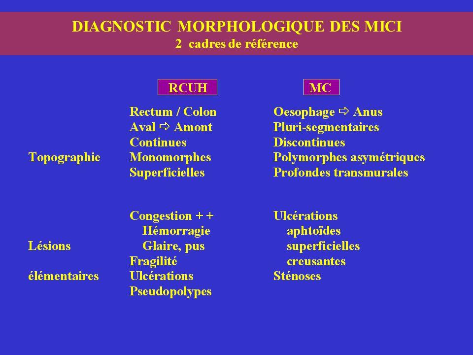DIAGNOSTIC MORPHOLOGIQUE DES MICI 2 cadres de référence