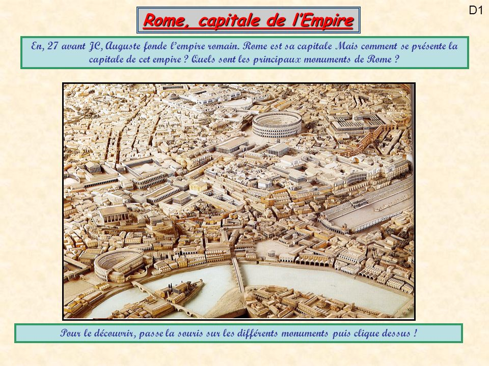 Rome, capitale de l'Empire
