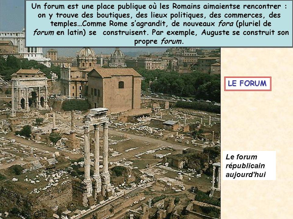 Un forum est une place publique où les Romains aimaientse rencontrer :