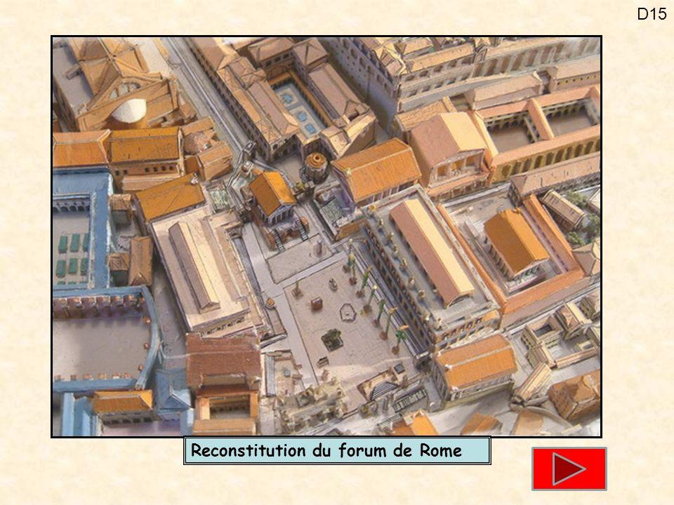 Reconstitution du forum de Rome