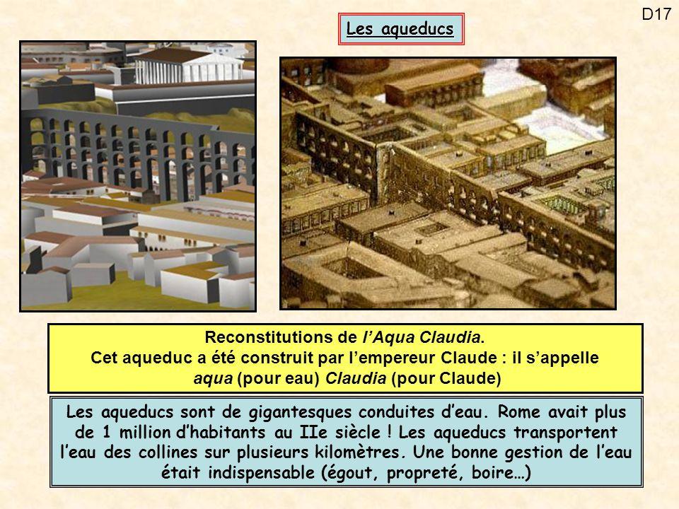 Reconstitutions de l'Aqua Claudia.