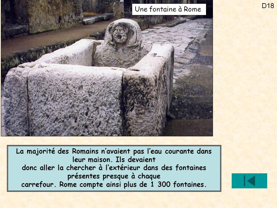 carrefour. Rome compte ainsi plus de 1 300 fontaines.