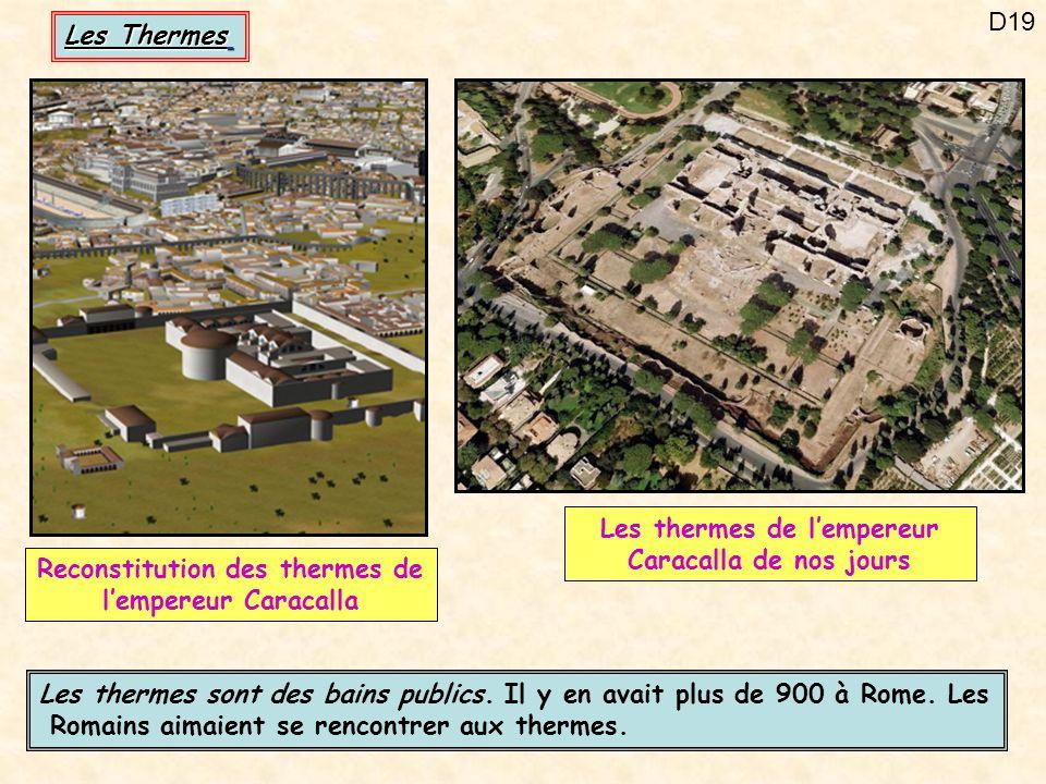 Les thermes de l'empereur Caracalla de nos jours
