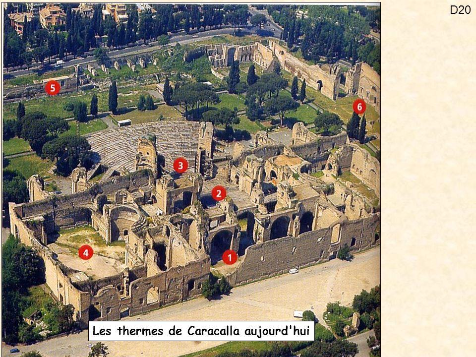 Les thermes de Caracalla aujourd hui