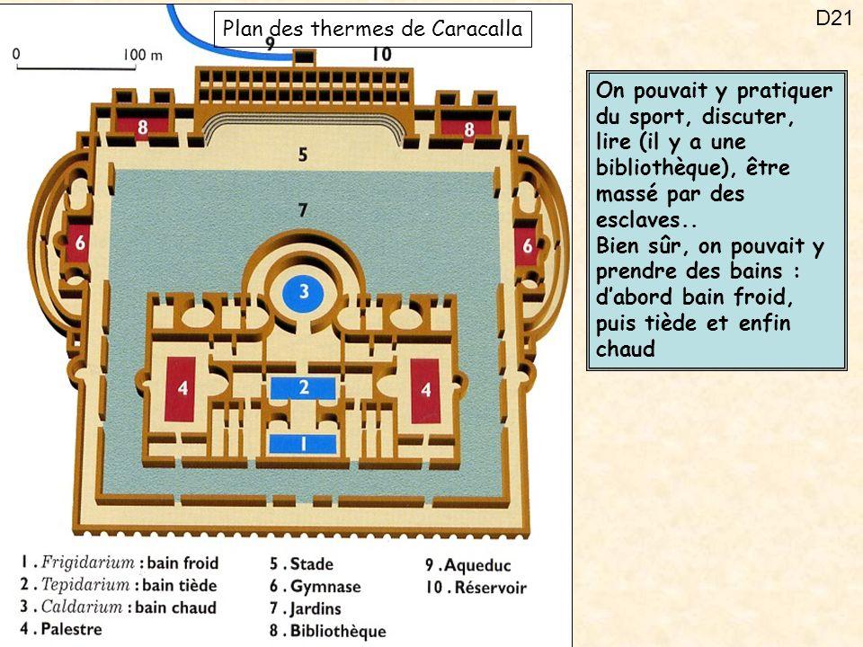 Plan des thermes de Caracalla