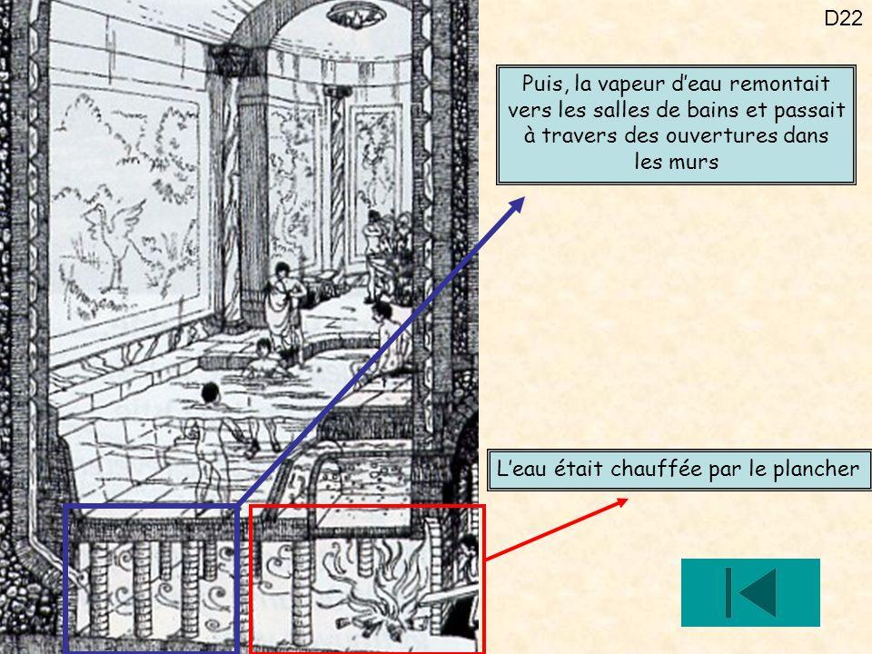 Puis, la vapeur d'eau remontait vers les salles de bains et passait à travers des ouvertures dans les murs