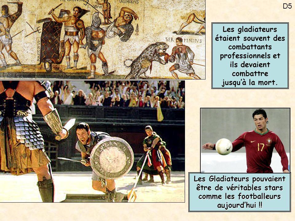 Les gladiateurs étaient souvent des combattants professionnels et ils devaient combattre