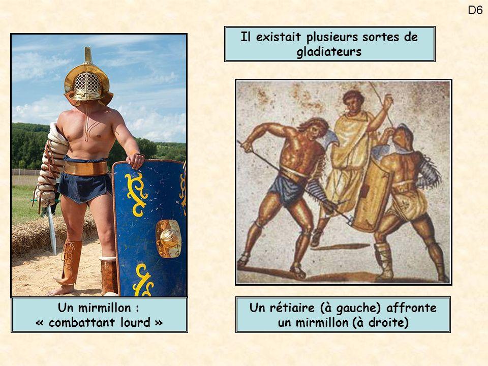 Il existait plusieurs sortes de gladiateurs