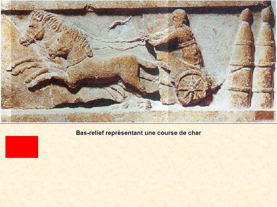 Bas-relief représentant une course de char