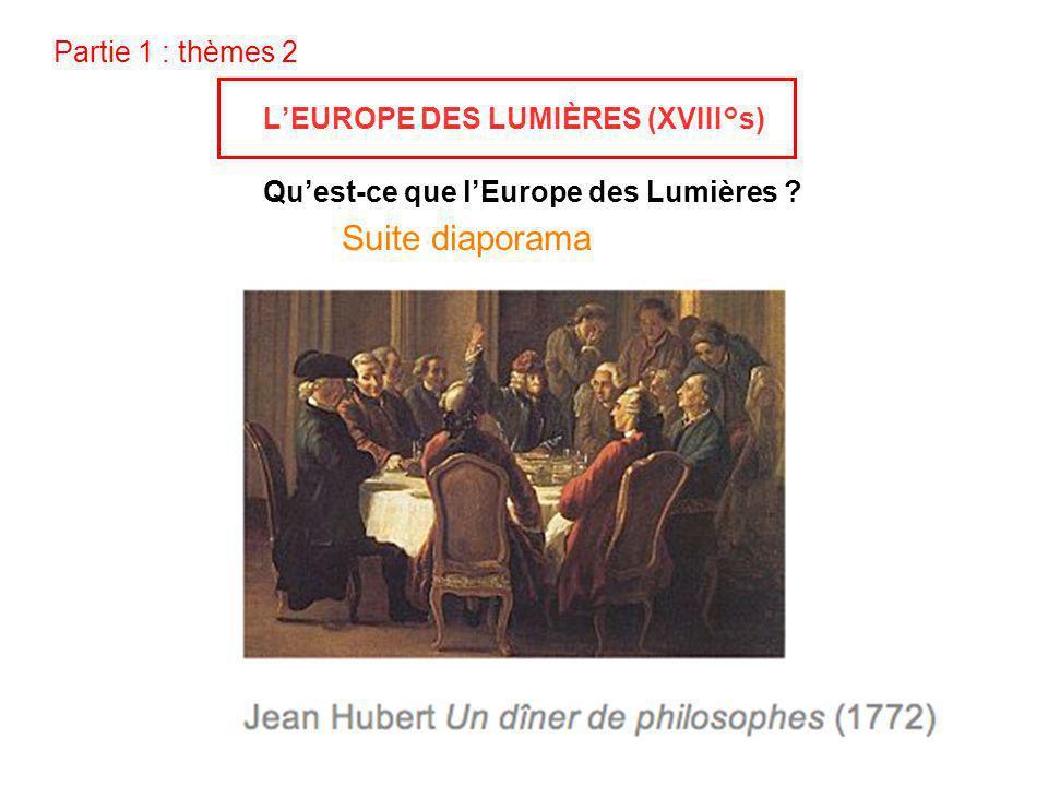 Suite diaporama Partie 1 : thèmes 2 L'EUROPE DES LUMIÈRES (XVIII°s)