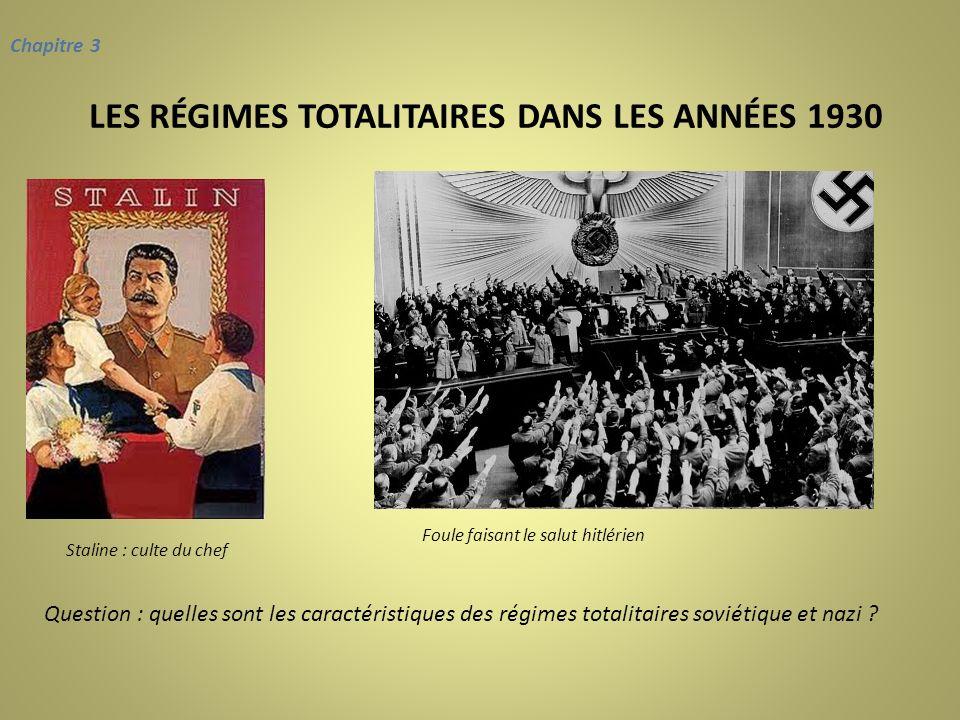 LES RÉGIMES TOTALITAIRES DANS LES ANNÉES 1930