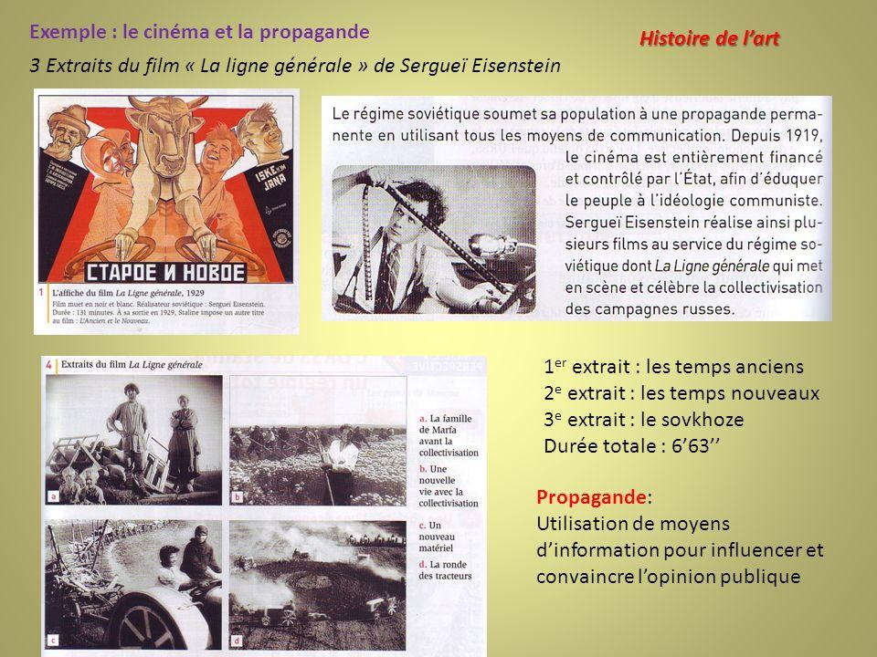 Exemple : le cinéma et la propagande