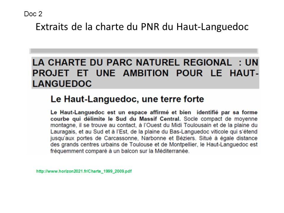 Extraits de la charte du PNR du Haut-Languedoc