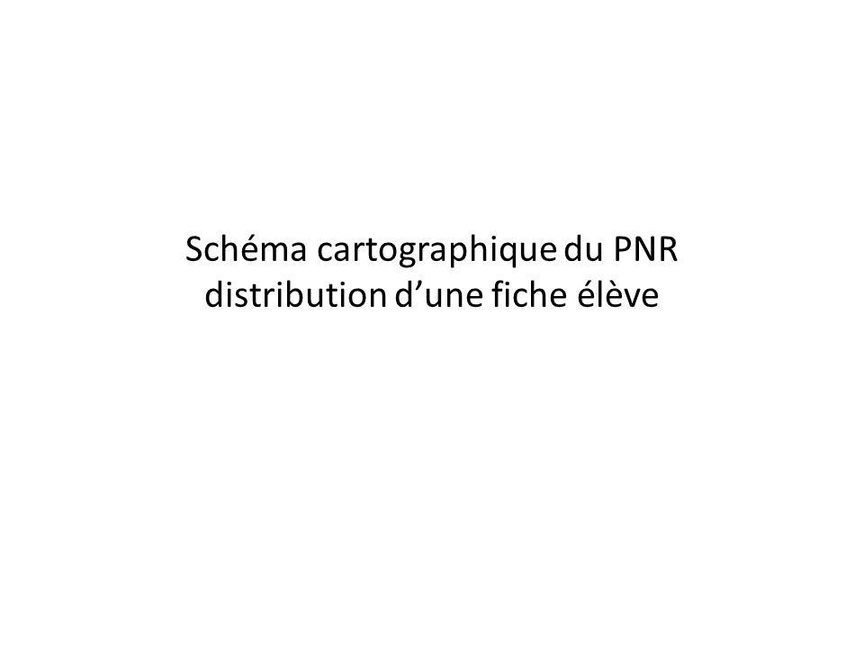 Schéma cartographique du PNR distribution d'une fiche élève