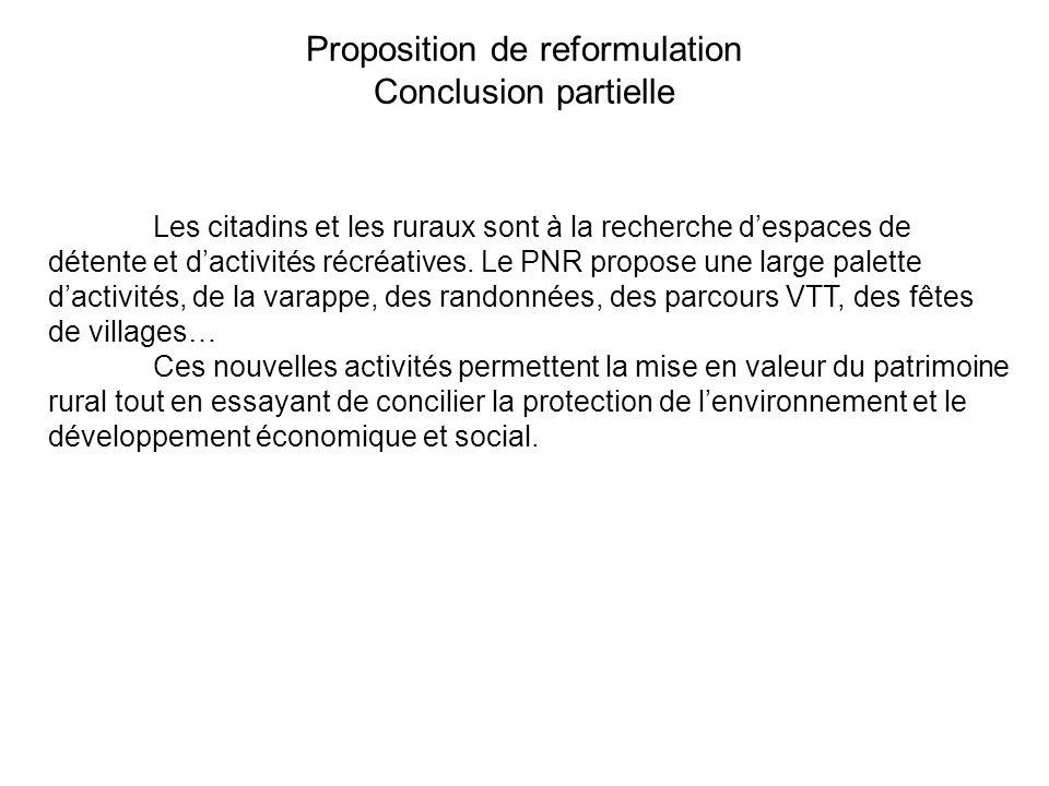 Proposition de reformulation