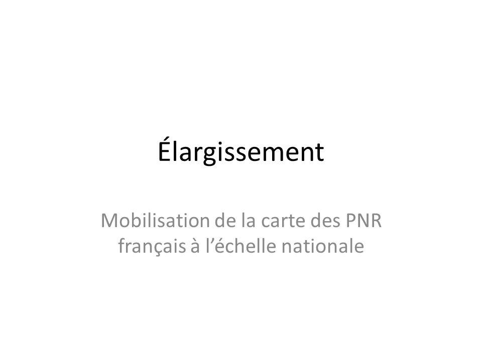 Mobilisation de la carte des PNR français à l'échelle nationale