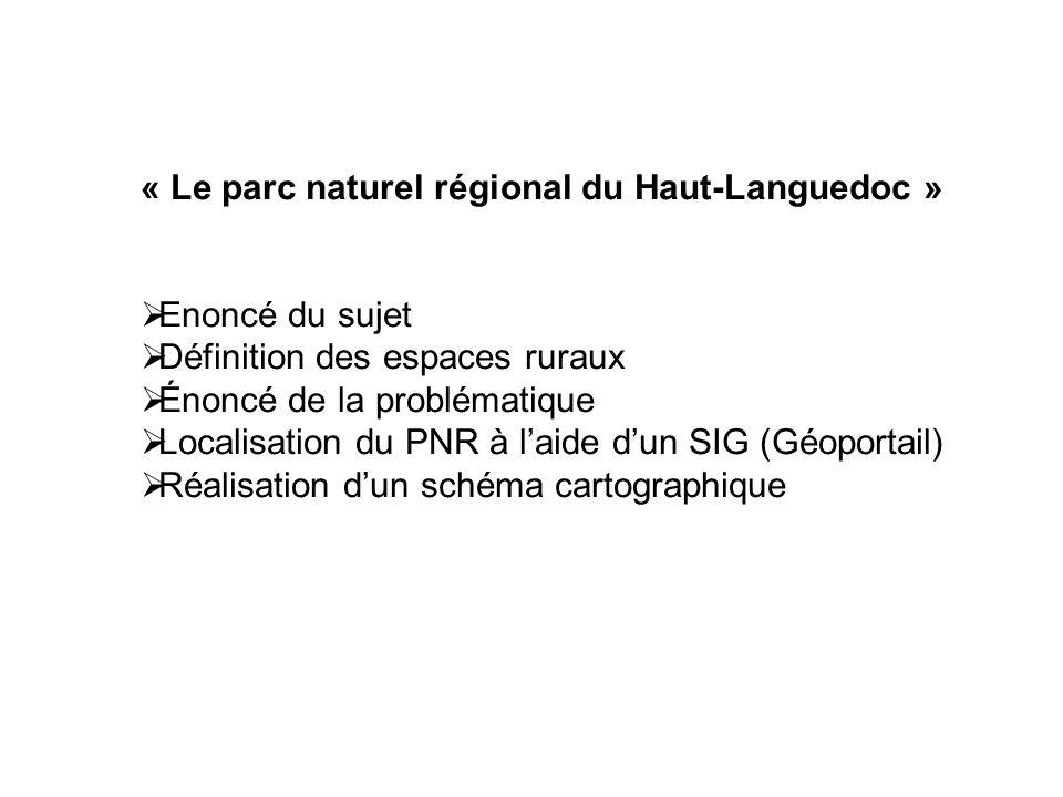 « Le parc naturel régional du Haut-Languedoc »