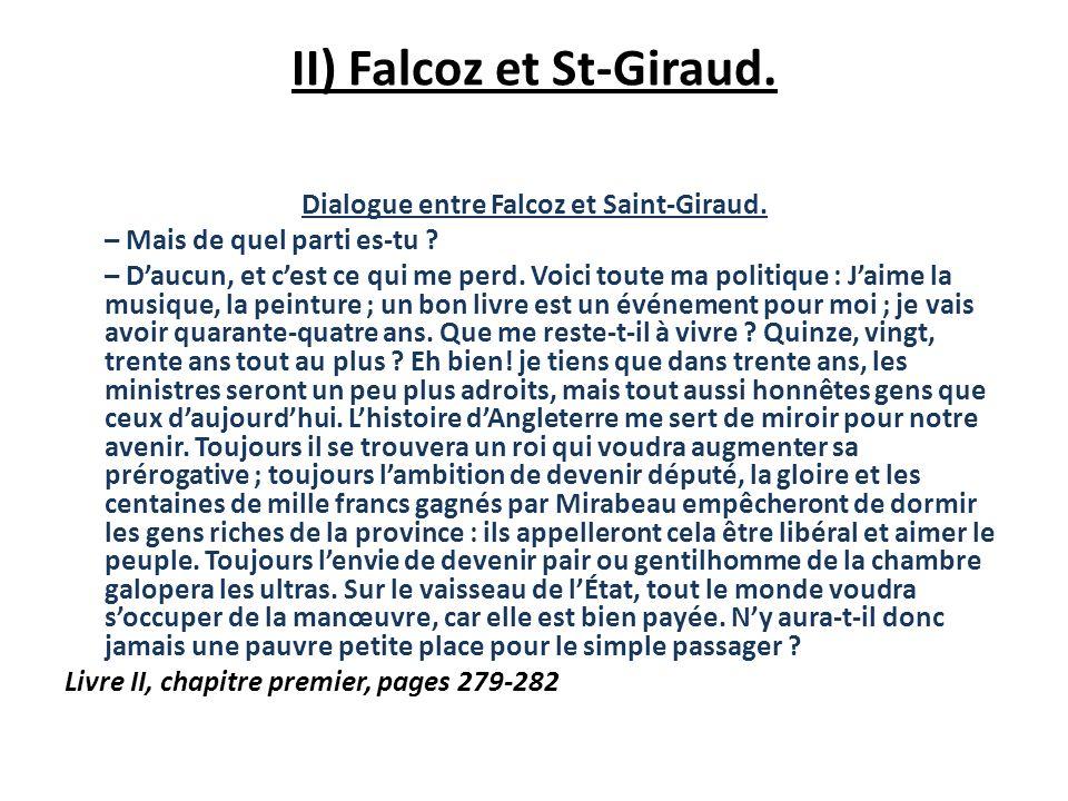II) Falcoz et St-Giraud.