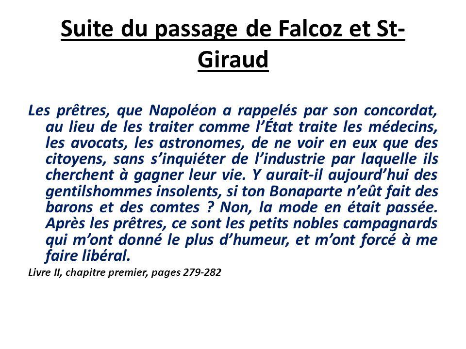Suite du passage de Falcoz et St-Giraud