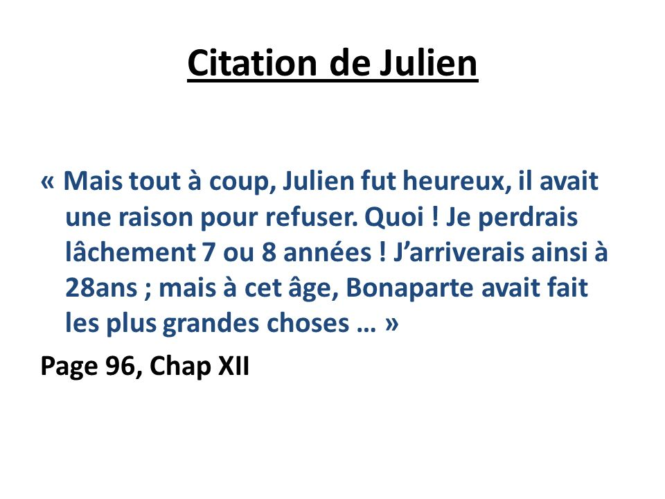 Citation de Julien