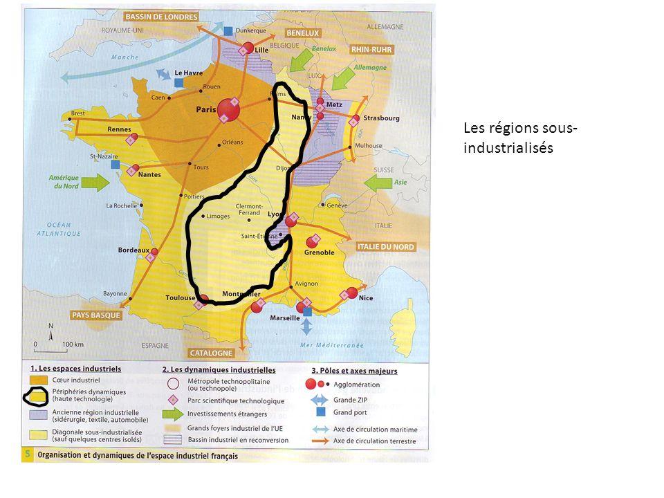 Les régions sous-industrialisés