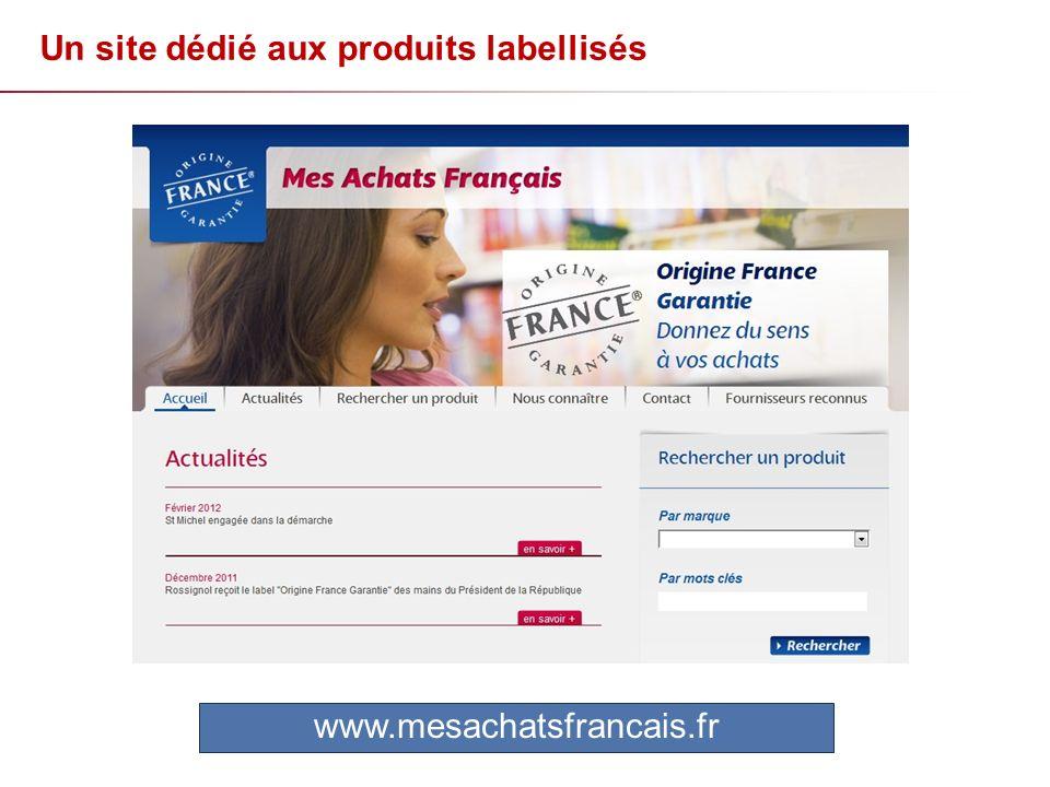 Un site dédié aux produits labellisés