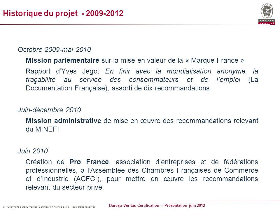 Historique du projet - 2009-2012