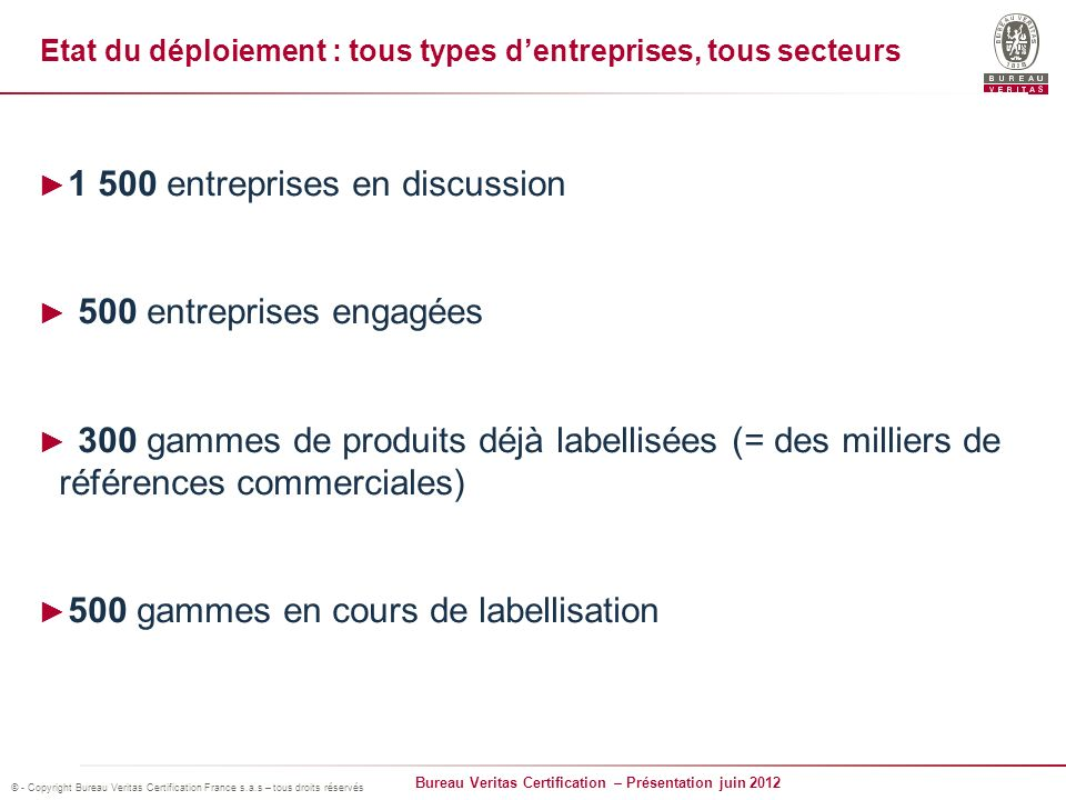 1 500 entreprises en discussion