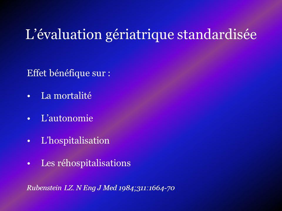 L'évaluation gériatrique standardisée