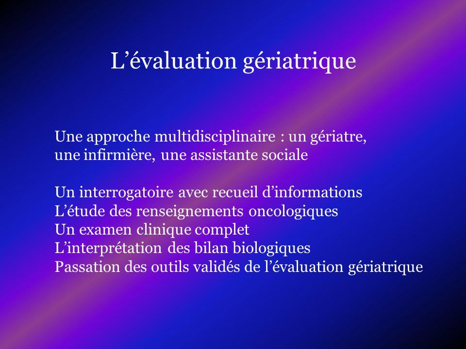 L'évaluation gériatrique