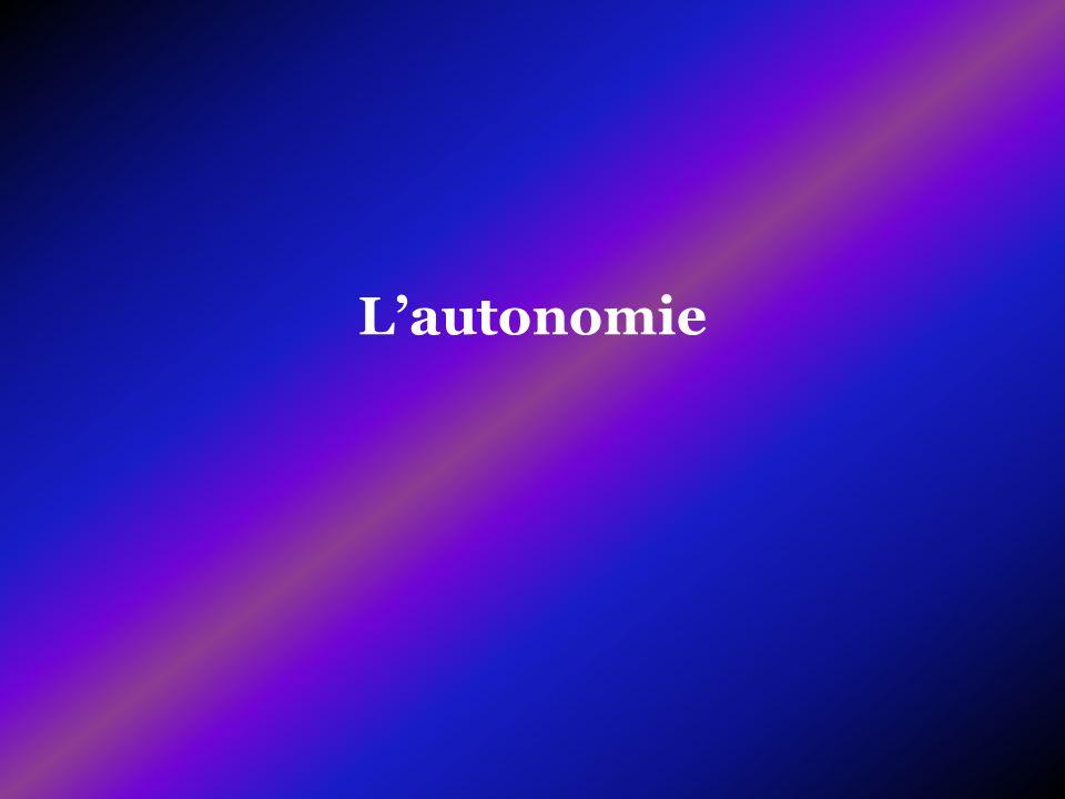 L'autonomie