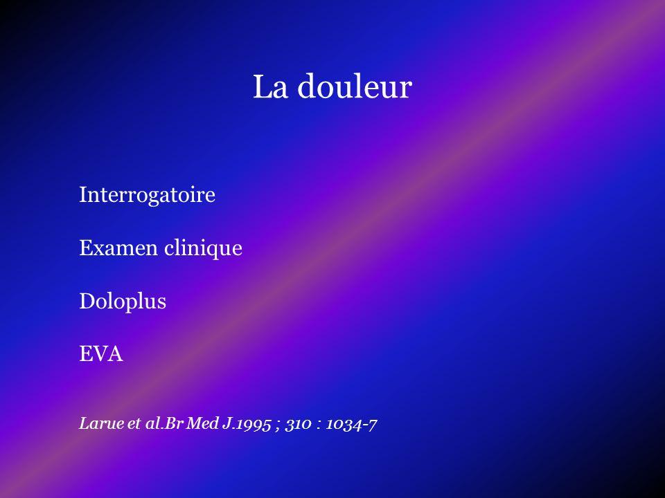 La douleur Interrogatoire Examen clinique Doloplus EVA