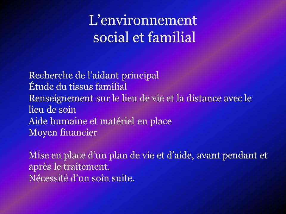 L'environnement social et familial