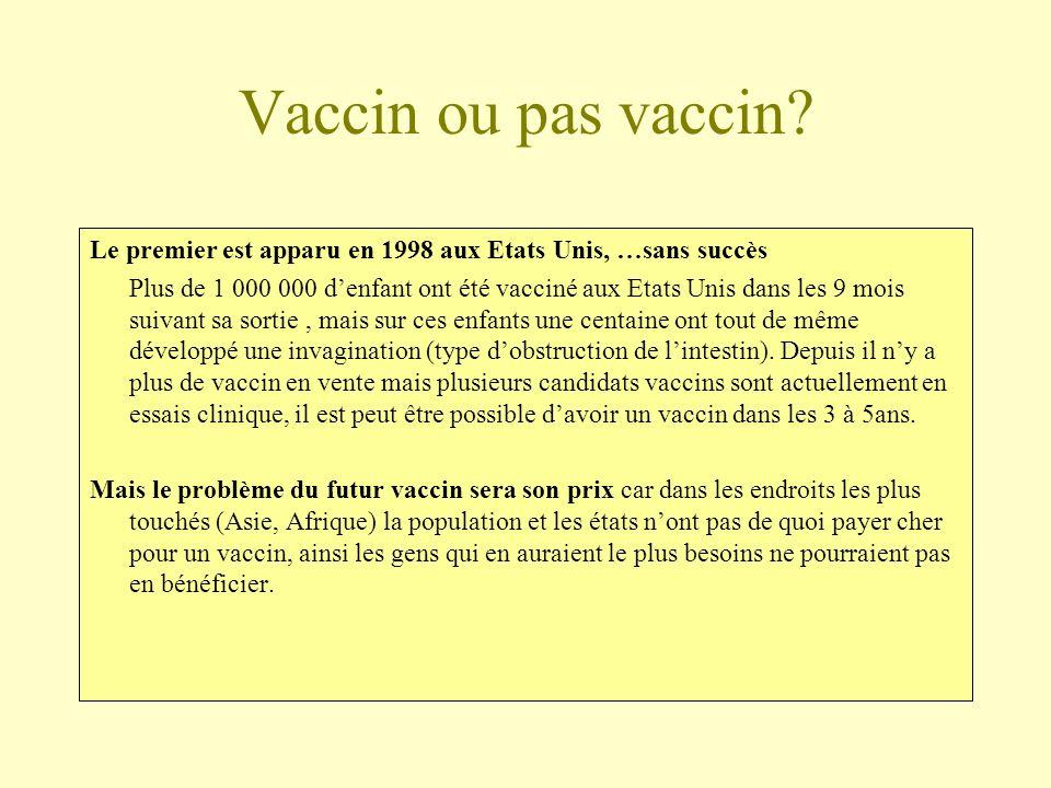 Vaccin ou pas vaccin Le premier est apparu en 1998 aux Etats Unis, …sans succès.