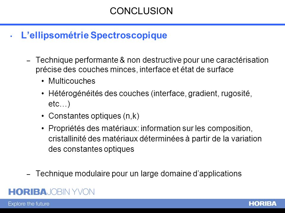 L'ellipsométrie Spectroscopique