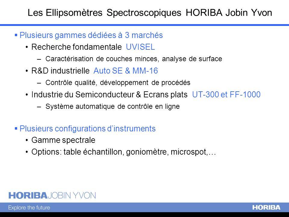 Les Ellipsomètres Spectroscopiques HORIBA Jobin Yvon