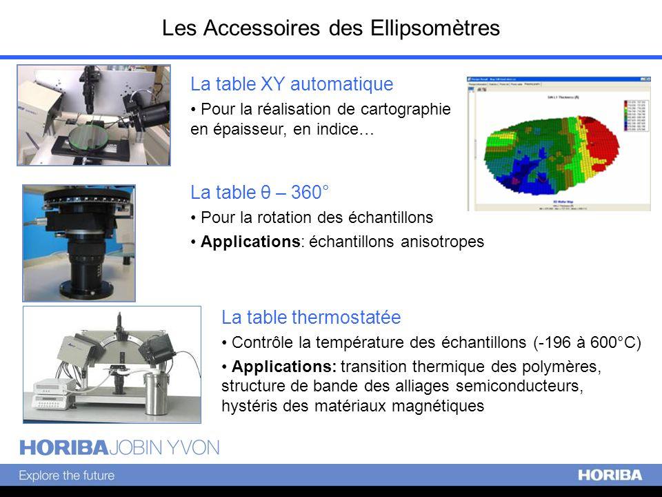 Les Accessoires des Ellipsomètres