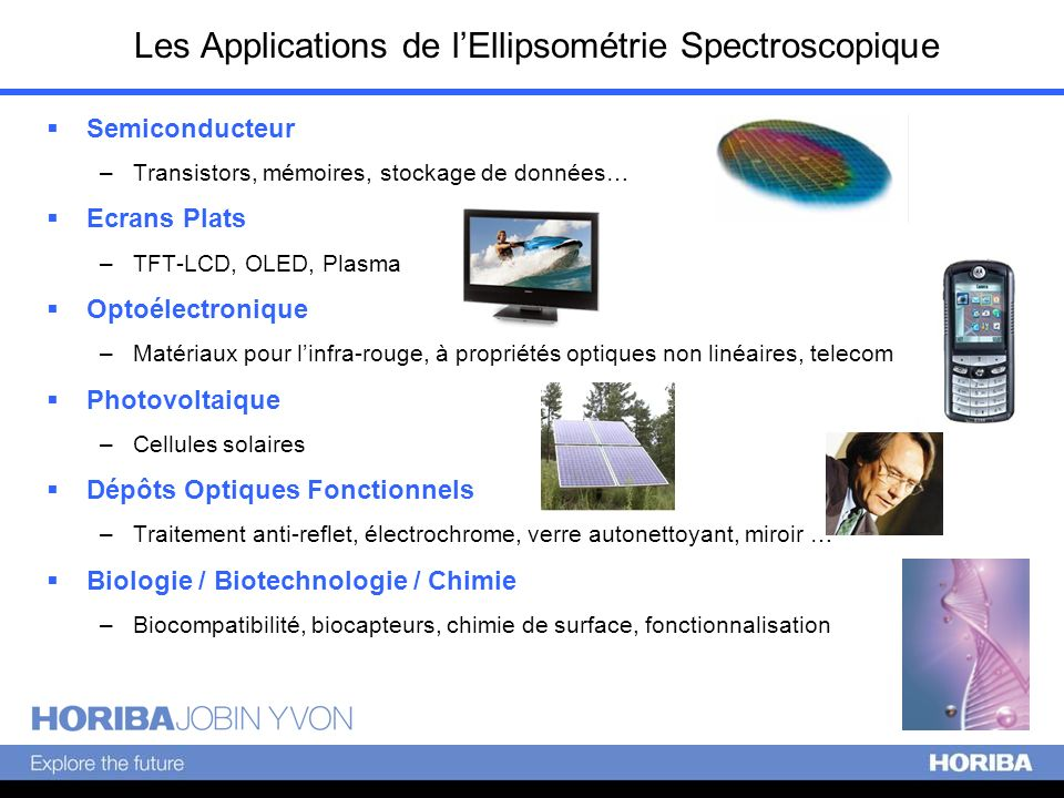 Les Applications de l'Ellipsométrie Spectroscopique