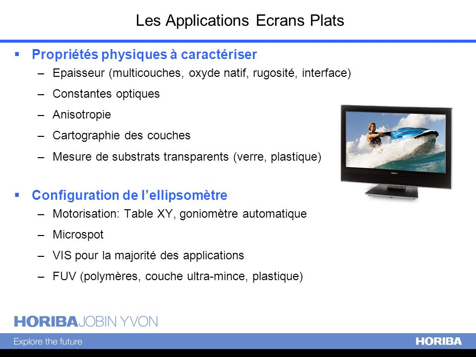 Les Applications Ecrans Plats
