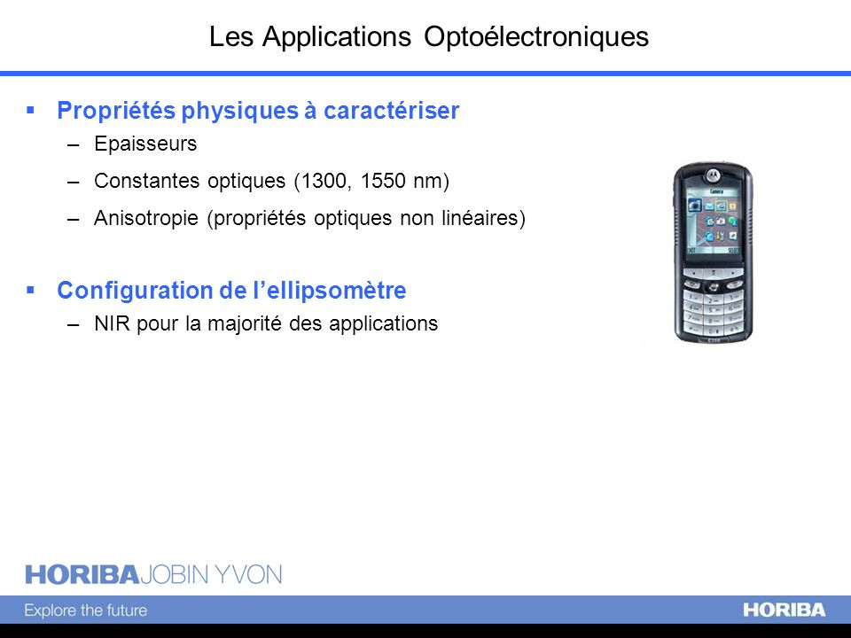 Les Applications Optoélectroniques