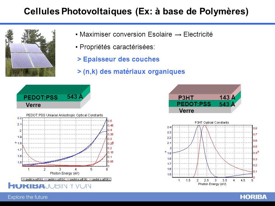 Cellules Photovoltaiques (Ex: à base de Polymères)
