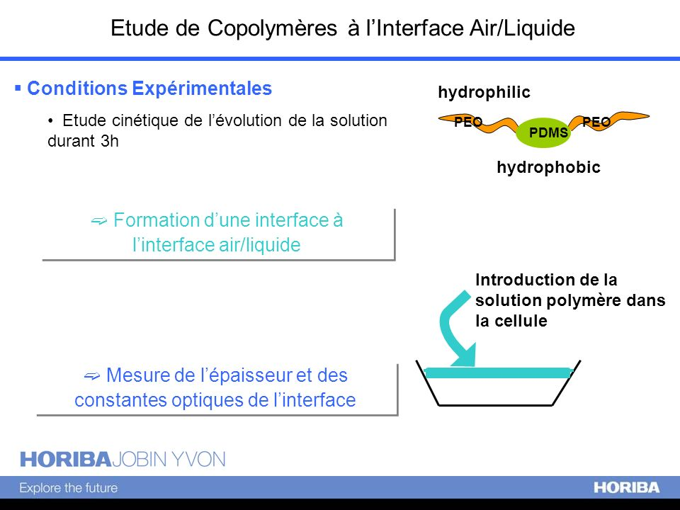 Etude de Copolymères à l'Interface Air/Liquide