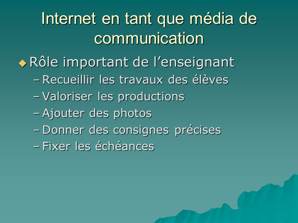 Internet en tant que média de communication